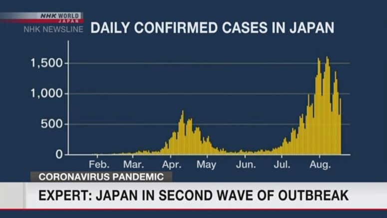 Expert: Japan in second wave of outbreak