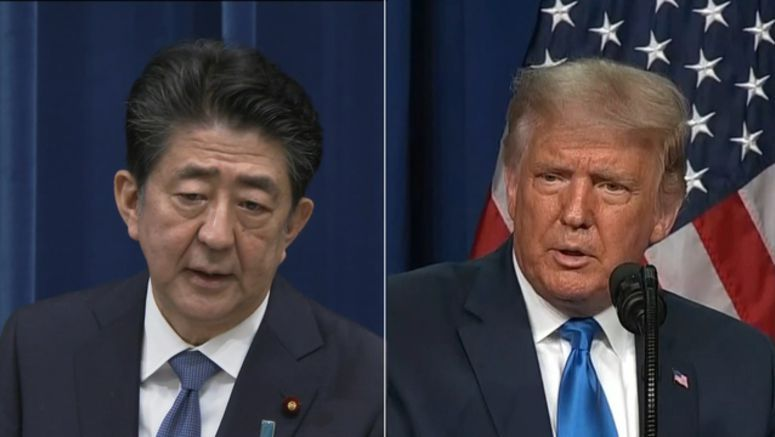 Abe to hold phone talks with Trump