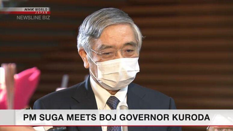 PM Suga meets BOJ Governor Kuroda