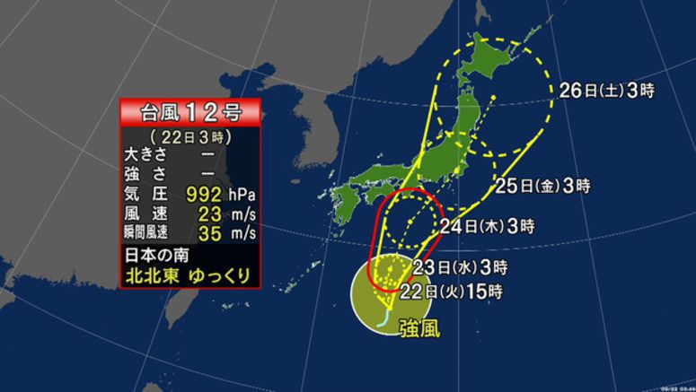 Tropical Storm Dolphin may affect Japan from Wed.