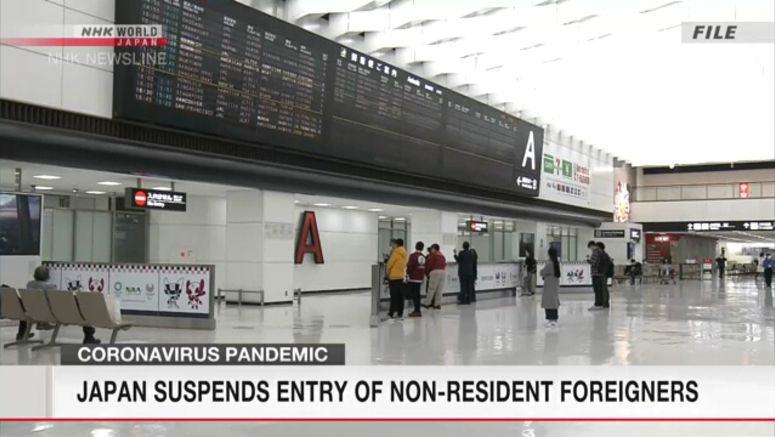 Japan suspends entry of non-resident foreigners
