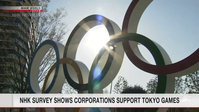 NHK survey shows corporations support Tokyo games