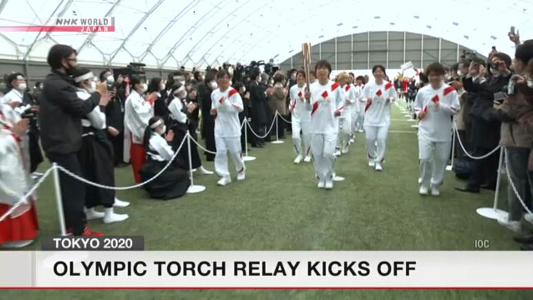 Olympic torch relay begins in Fukushima