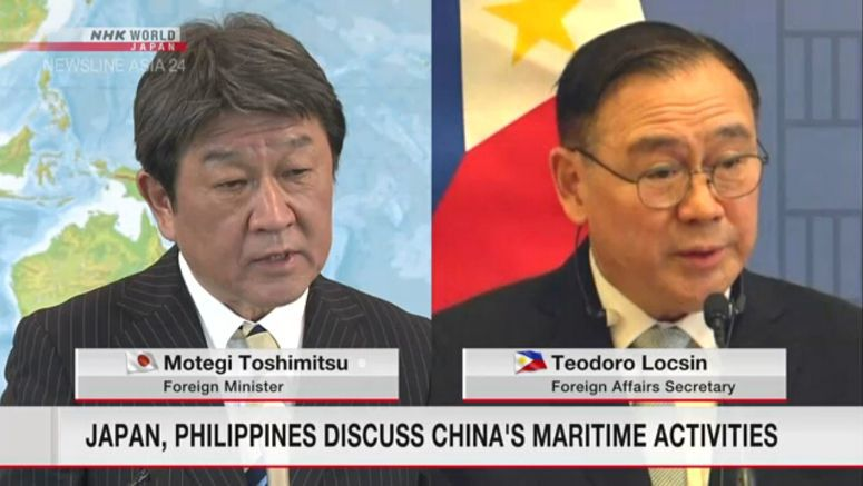 Japan, Philippines discuss concerns about China