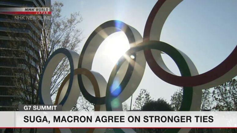 Suga, Macron agree on stronger ties