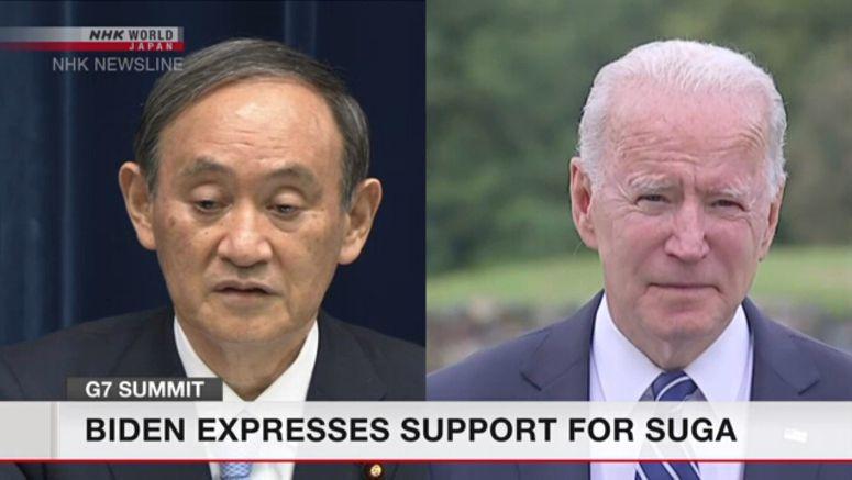 Biden expresses support for Suga over Tokyo Games