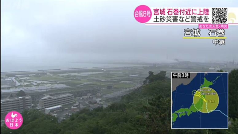 Nepartak makes landfall in northeastern Japan