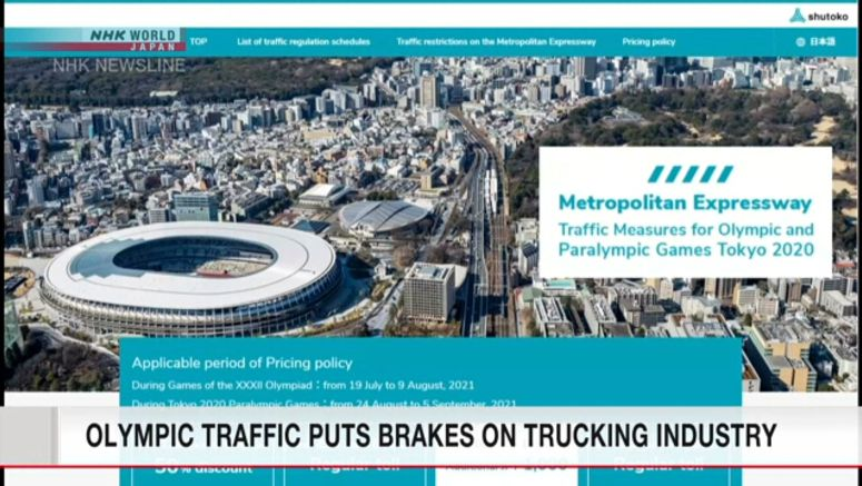 Olympic traffic restrictions hit trucking industry
