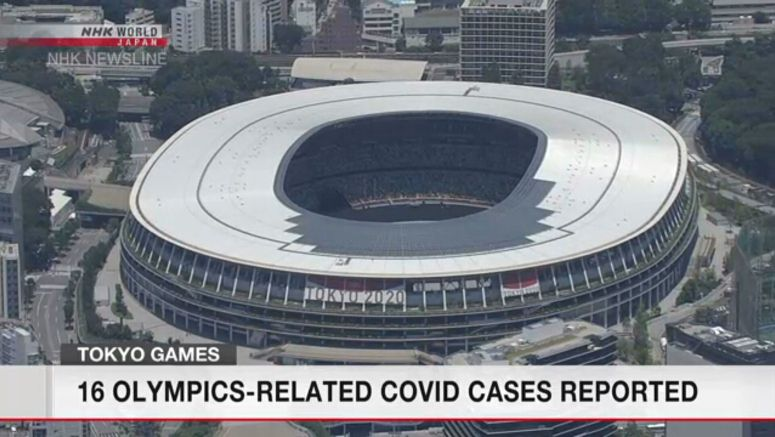 16 new COVID cases related to Tokyo Olympics