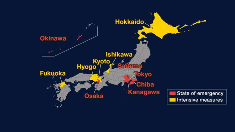 State of emergency expanded to 4 more prefectures