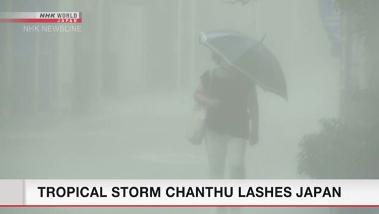 Tropical storm Chanthu lashes Japan