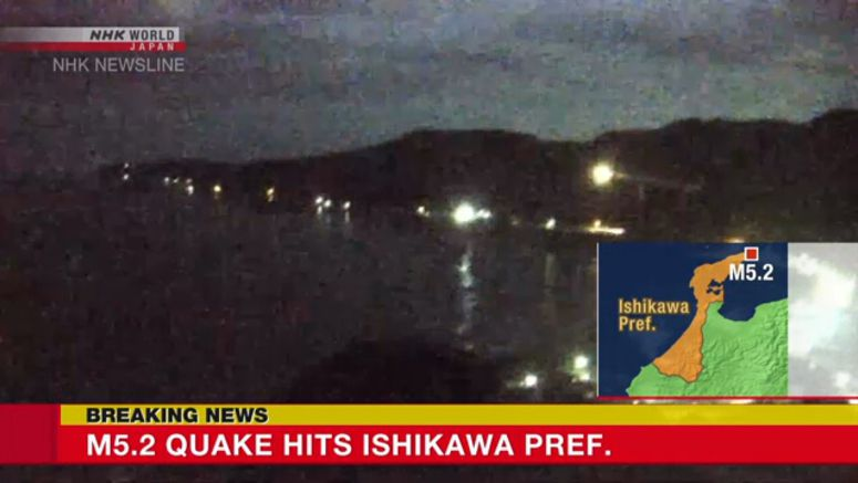 M5.2 earthquake hits Ishikawa