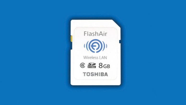 Toshiba FlashAir App makes transfer of photos or files easily