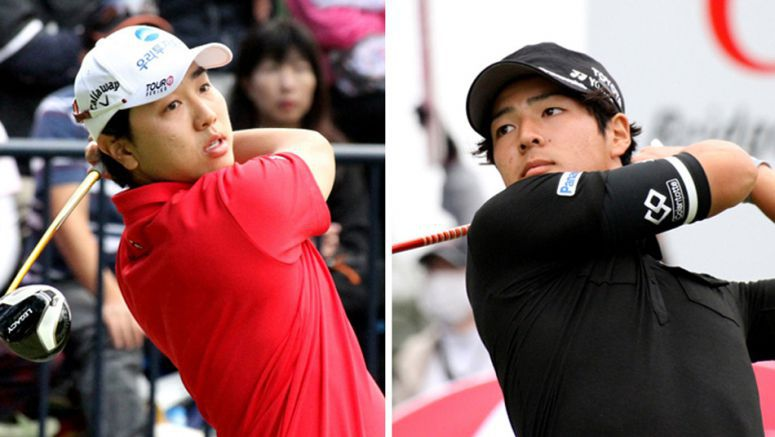 Golf Young Japanese, S.Koreans fight