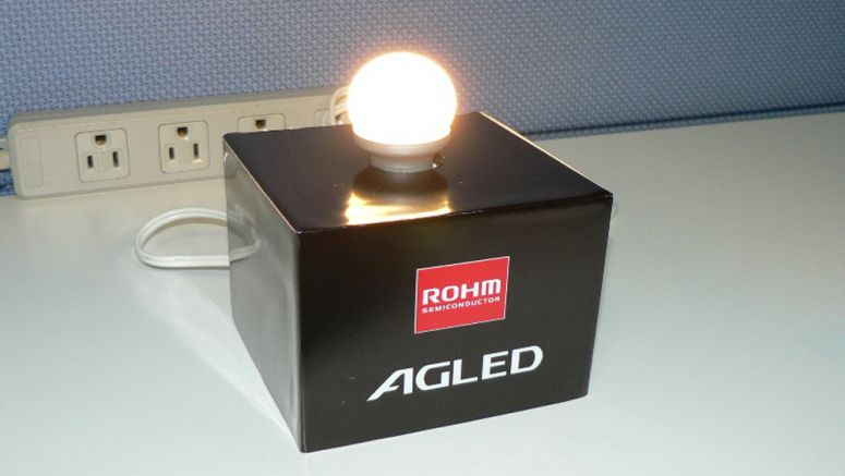 Rohm to Release E17-base Small Krypton Gas LED Light Bulb