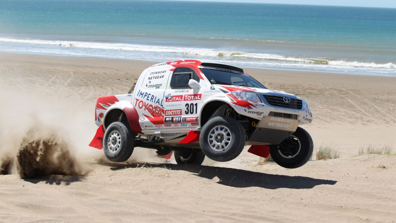 Toyota Hilux On The Podium In Dakar Rally