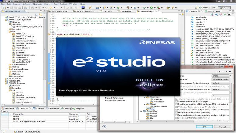 Renesas Eclipse-Based Integrated Development Environment
