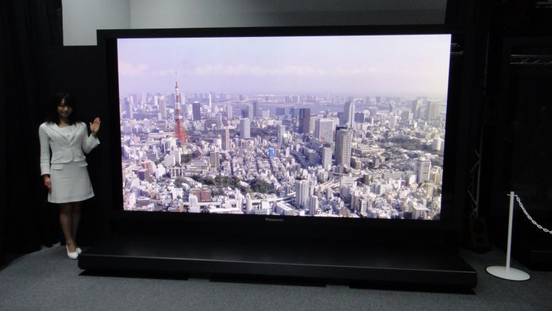 NHK 145-inch Ultra High Definition plasma display
