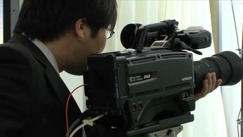 NHK World's first Ultra High Definition shoulder-mount camera