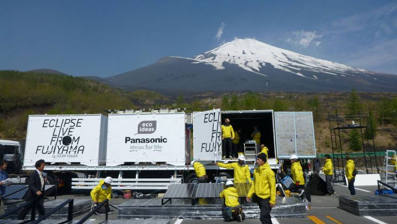 Counting Down to Eclipse Live from FUJIYAMA by Panasonic Solar Power