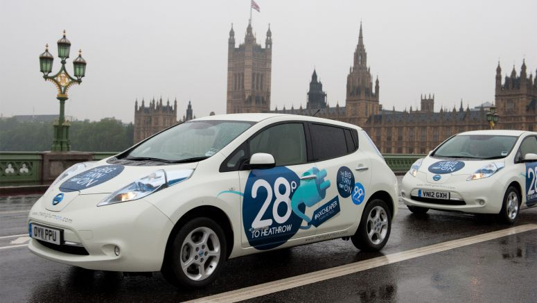Free Nissan Leaf cab rides in London promote electric vehicles