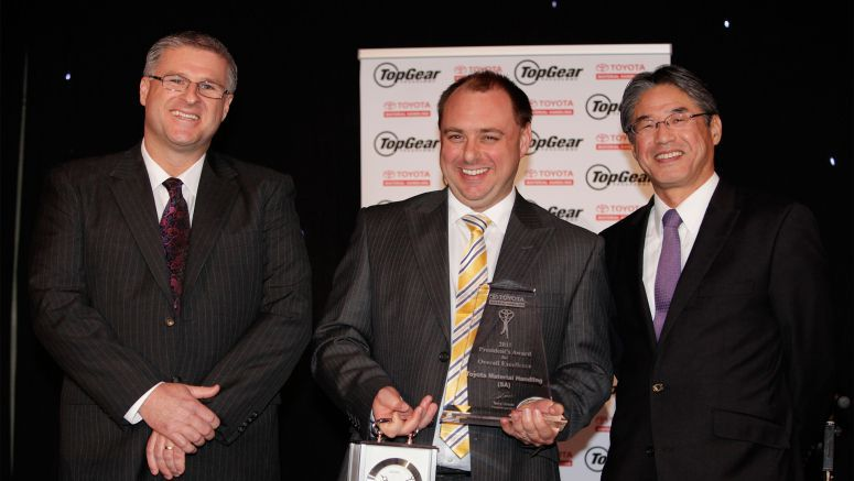 Toyota South Australian Forklift Branch Wins President Award