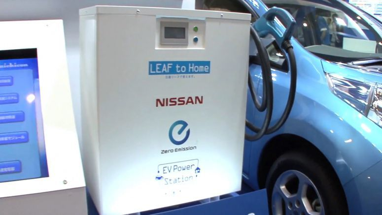 Nissan LEAF Battery Used to Power Homes