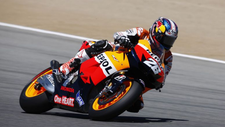 Honda Pedrosa fastest on day one with Stoner third at Red Bull US Grand Prix