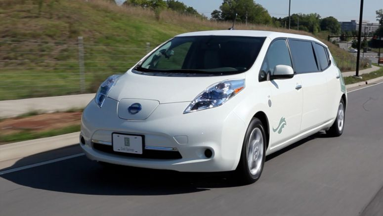 World's First Electric Nissan LEAF Limo Debuts in Tennessee