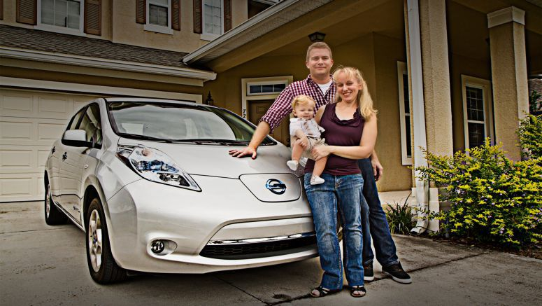 Nissan LEAF Works for Orlando Couple and Their eBaby