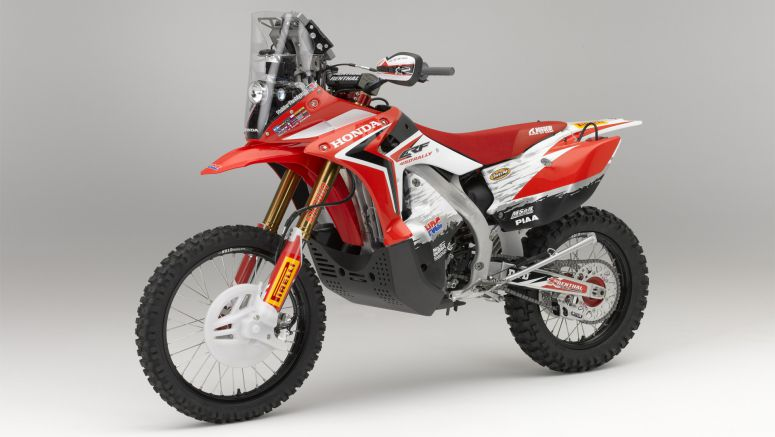 Honda unveils Dakar Rally model at International Motorcycle, Scooter and Bike Fair