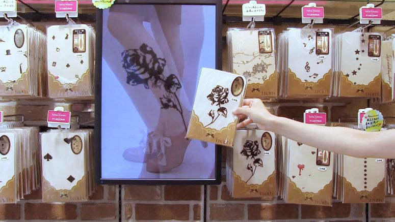 Photos of Model Wearing Picked-up Item are Shown on Display
