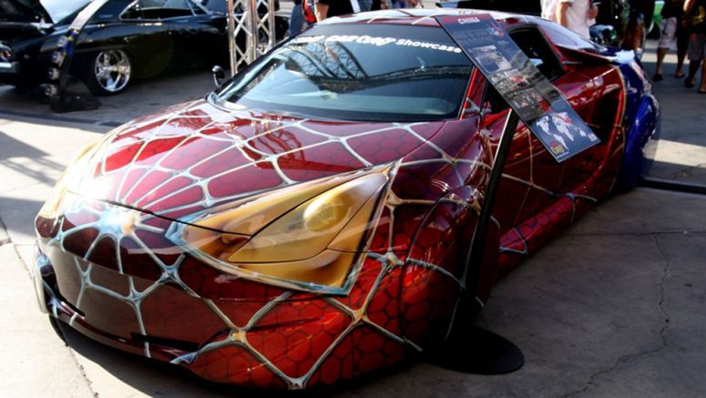 Toyota Celica 2000 Tuned Spider-man Car