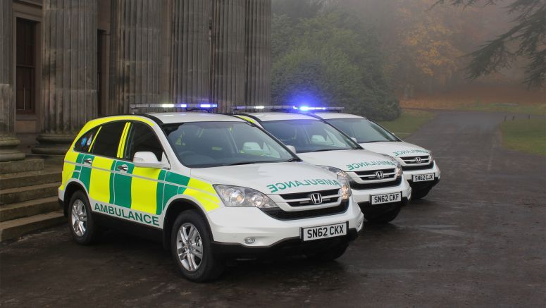 Two Generations of Honda CR-V Ride to the Rescue with UK Ambulance Services