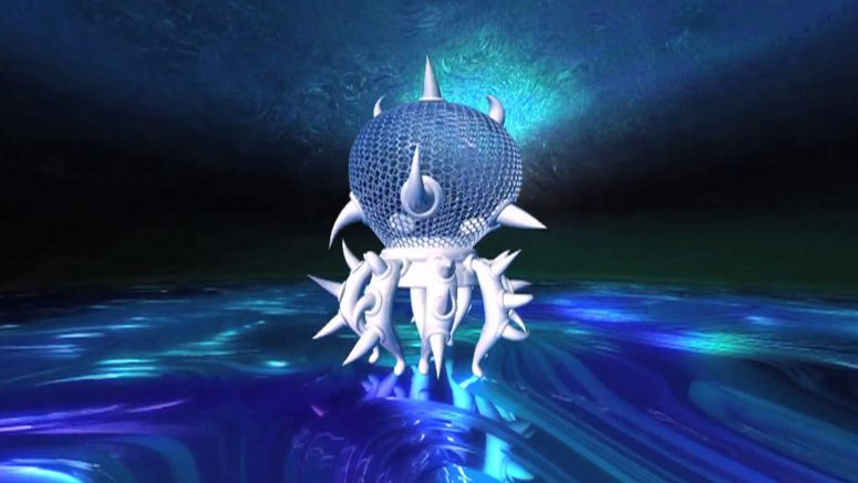 Space Jellyfish Created with Traditional Handicraft and High Tech