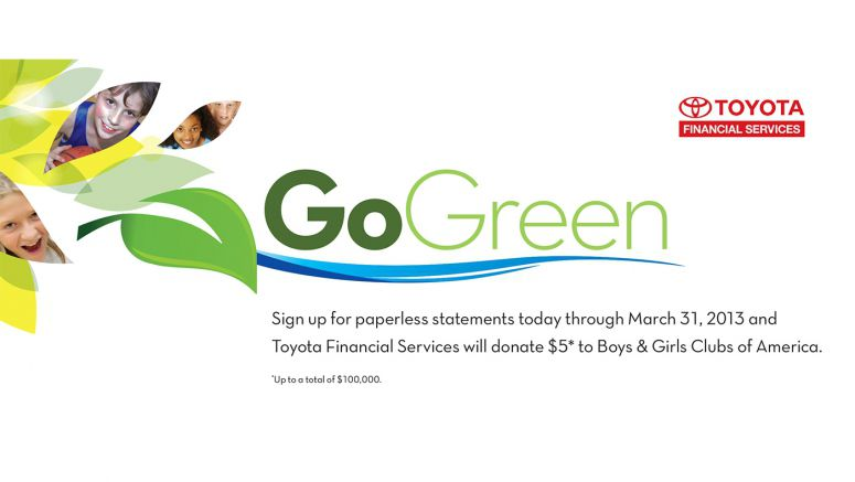 Toyota/Lexus Financial Services Kicks Off 2nd Annual 'GoGreen' Campaign
