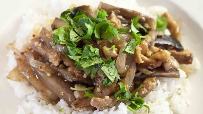 Stir-Fried Pork with Eggplant and Miso