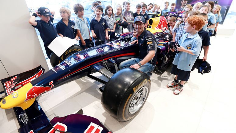Infiniti Australian Formula One Star Mark Webber Showcases the Precision of Formula One Training Ahead of His Home Race, Then Gets Grilled by Local Children