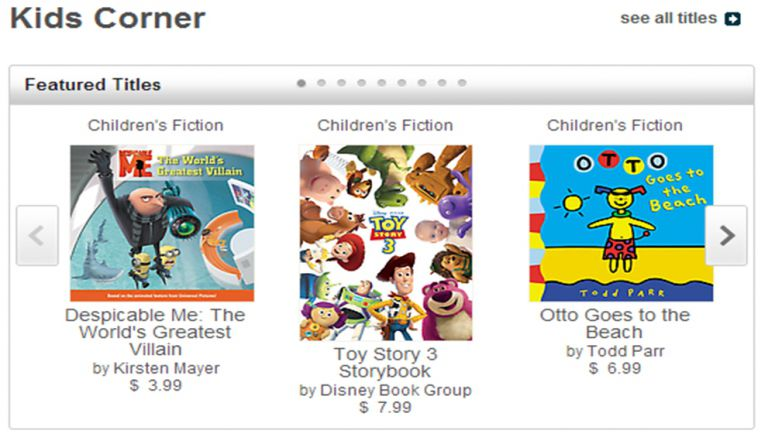 Sony Reader Store Launches Dedicated Kids Corner