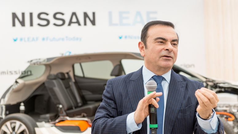 Nissan's Ghosn offers auto-driving reality check