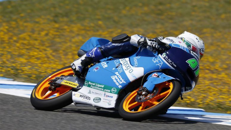 Honda Moto3 riders take over the second row of the Jerez grid