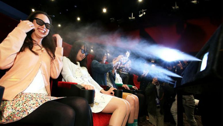 Japan's first '4D' movie theater opens in Nagoya