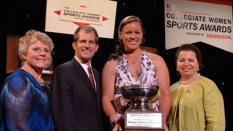The Collegiate Women Sports Awards Presents 2013 Honda Cup to Keilani Ricketts of the University of Oklahoma