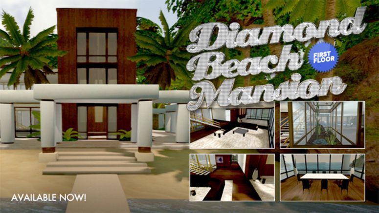 Sony PlayStation Home: Kick Back in the Diamond Beach Mansion