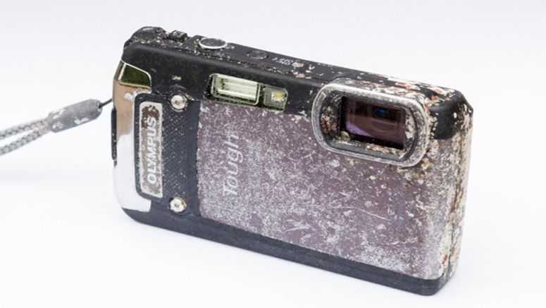 Diver finds Olympus camera in the Indian Ocean – and rescues memories of a honeymoon trip