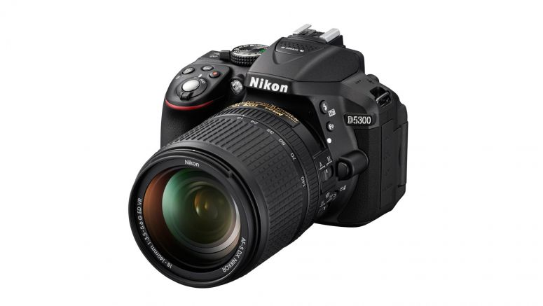 Nikon D5300 is the company's first DSLR with built-in WiFi, ships this month for $800