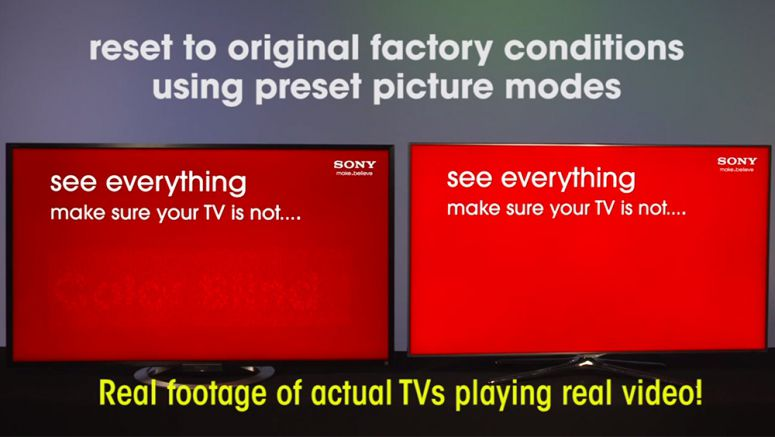 VIDEO : Sony vs. Samsung HD TVs -- Color Test