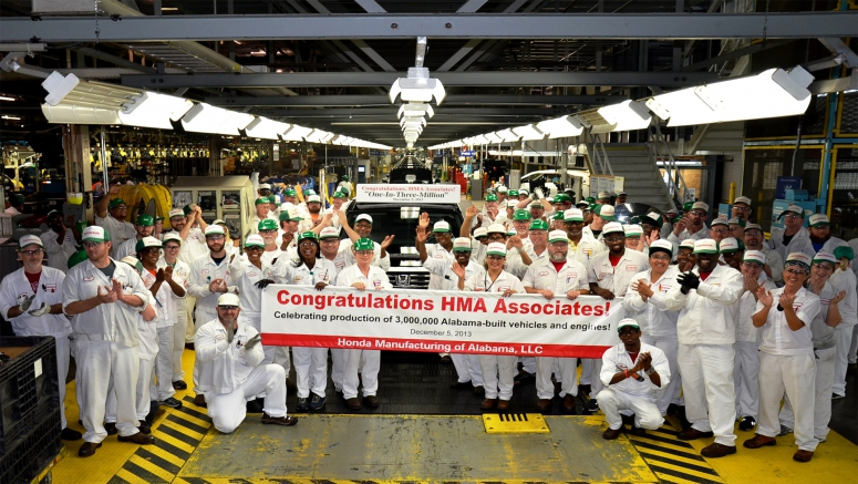 HMA Reaches Production Milestone in Celebration of the 3 Millionth Alabama-built Honda