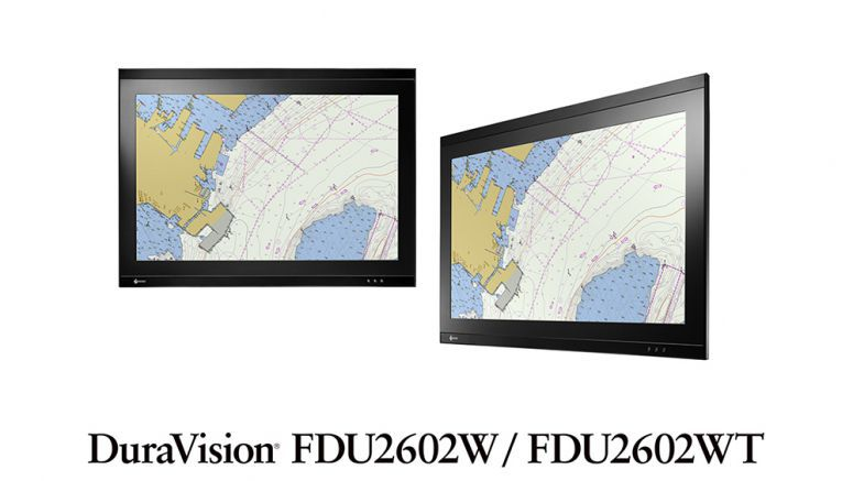 "EIZO Releases 25.5"" Panel Mount Marine Monitors with Optional Optical Bonding for ECDIS / RADAR Applications"