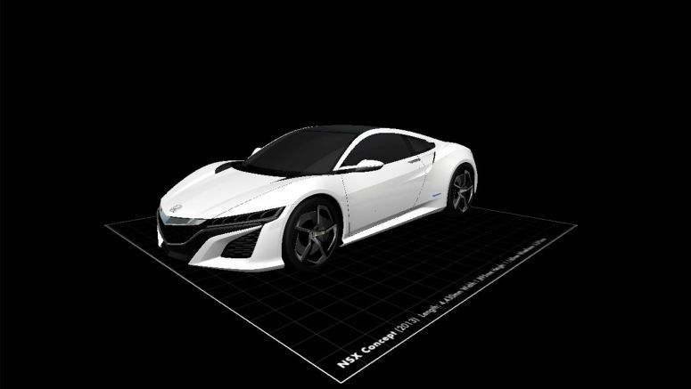 Want to 3D Print the NSX Concept and Other Honda Studies?